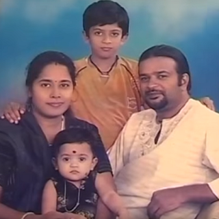 Gauri P. Krishnan-child actress family photo