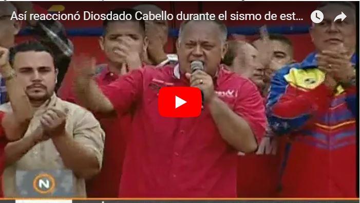 Diosdado Cabello se burla de la naturaleza durante el terremoto