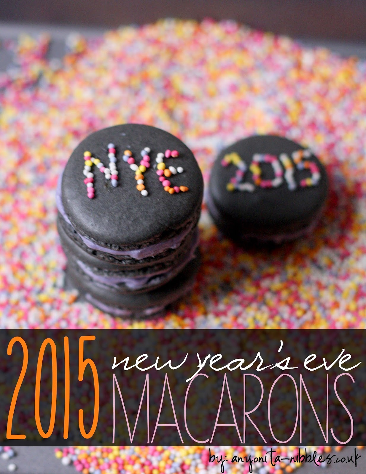 2015 New Year's Eve Macarons from Anyonita-nibbles.co.uk