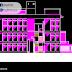 مخطط مشروع مبنى جمعية اوتوكاد dwg