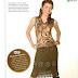 Falda de Crochet con Tachuelas Instrucciones