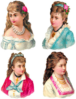 victorian women collage sheet digital clipart download fashion images
