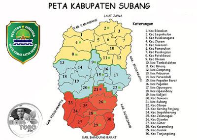 Daftar Nama Kecamatan, Kelurahan/Desa & Kodepos, Di Kota/Kabupaten Subang, Jawa Barat (Jabar), Indonesia