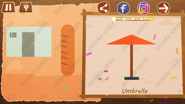 Chigiri: Paper Puzzle Novice Level 20 (Umbrella) Solution, Walkthrough, Cheats
