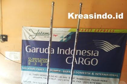 Tiang Bendera Indoor Stainless pesanan PT Farmsco Feed Indonesia di Serang Banten
