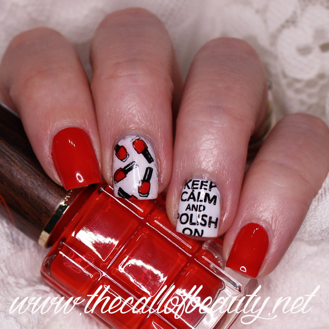 Red & Black Hobbies - Nail Art