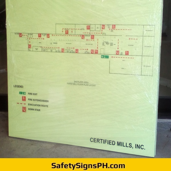 Photoluminescent Evacuation Plans - Certified Mills Inc. Philippines