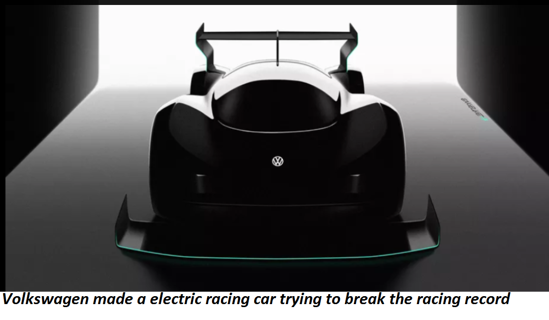 Volkswagen made a electric racing car trying to  break the racing record