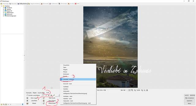 PhotoScape Anleitung und Schritt für Schritt mit Bilder-Tutorial: Werkzeuge, Tools der Effect Brush