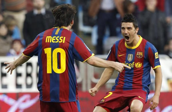 Messi Football: Barcelona's David Villa: Lionel Messi has ...