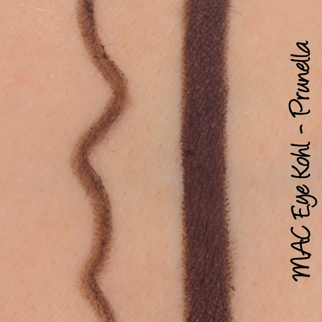 MAC Prunella Eye Kohl eyeliner swatches & review