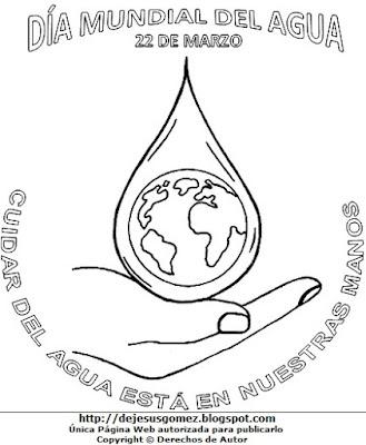 Imagen por el Día Mundial del Agua para colorear, pintar e imprimir. Dibujo del Día Mundial del Agua hecho por Jesus Gómez