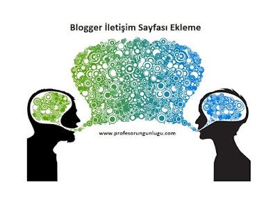 blogger form ekleme