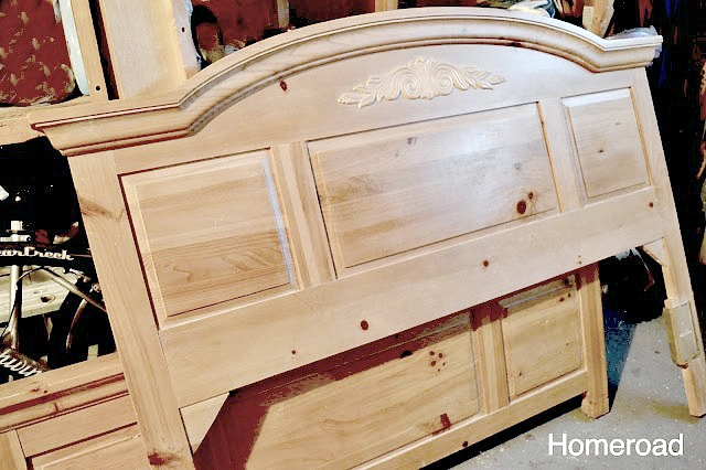 Chalk Painted Bed and Dresser Top