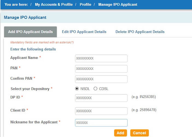 sbismart ipo applicant form fill