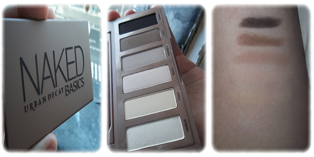 Swatch Palette Naked Basics Teintes Venus, Foxy, W.O.S., Naked 2, Faint, Crave - Urban Decay