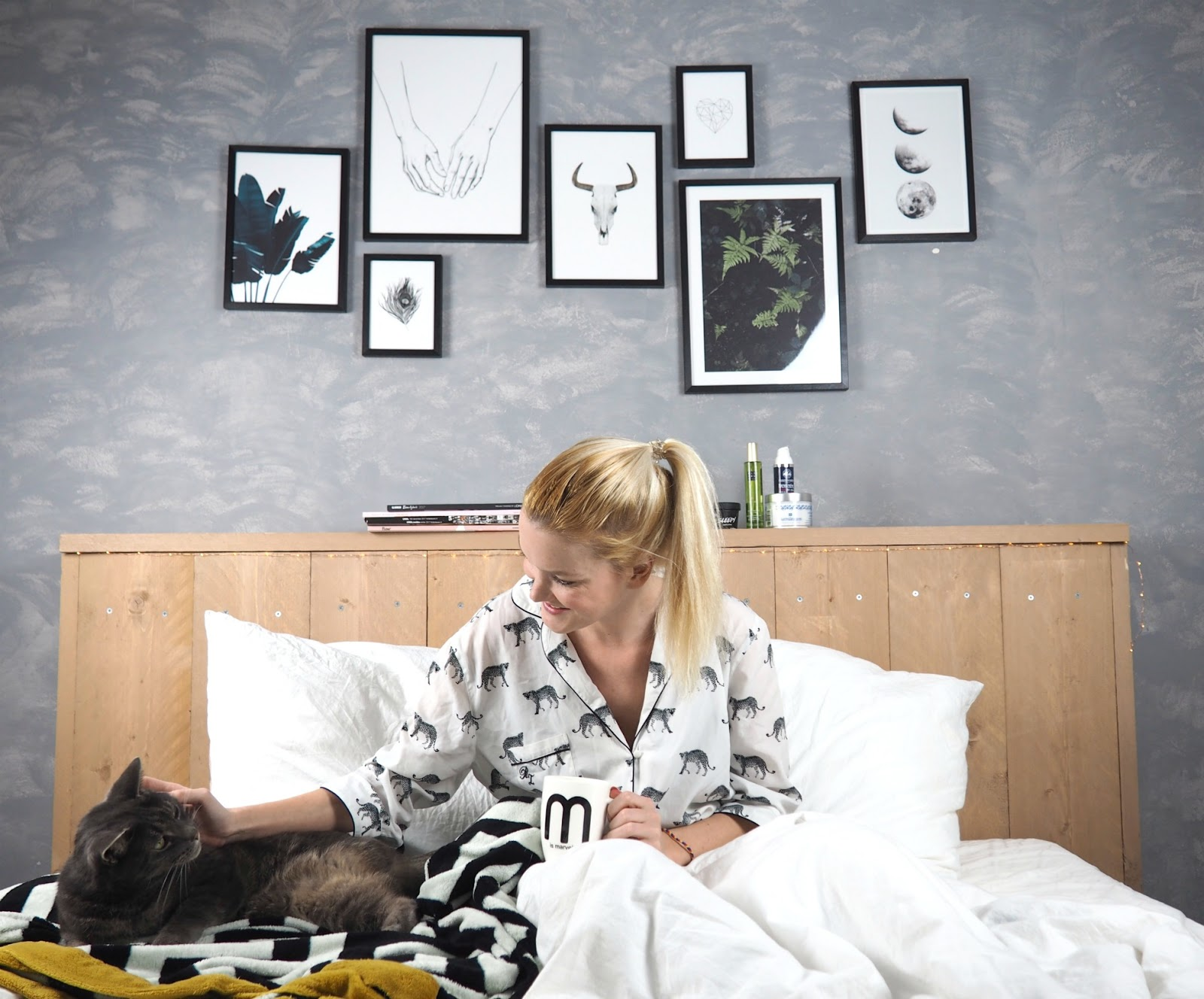 Life slaapkamer make over met betonmuur steigerhout en desenio