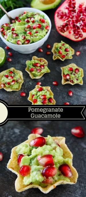 Pomegranate Guacamole #christmas #snack