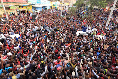 Raila Odinga in Maa land. PHOTO | FILE