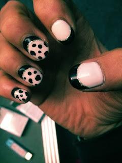 Koichi's cow dalmatian print nail art
