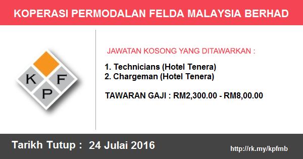 Jawatan Kosong di Koperasi Permodalan Felda Malaysia Berhad