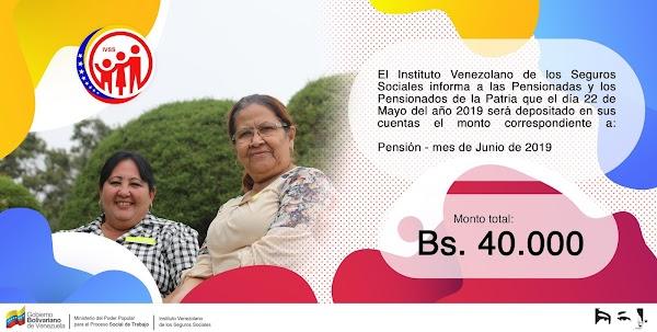 Pensionados del IVSS cobrarán este miércoles 22 de mayo el monto correspondiente a la pensión de junio 2019