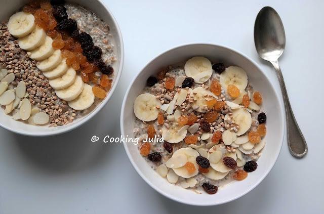 recette - petit déjeuner - petit déjeuner équilibré - porridge sain