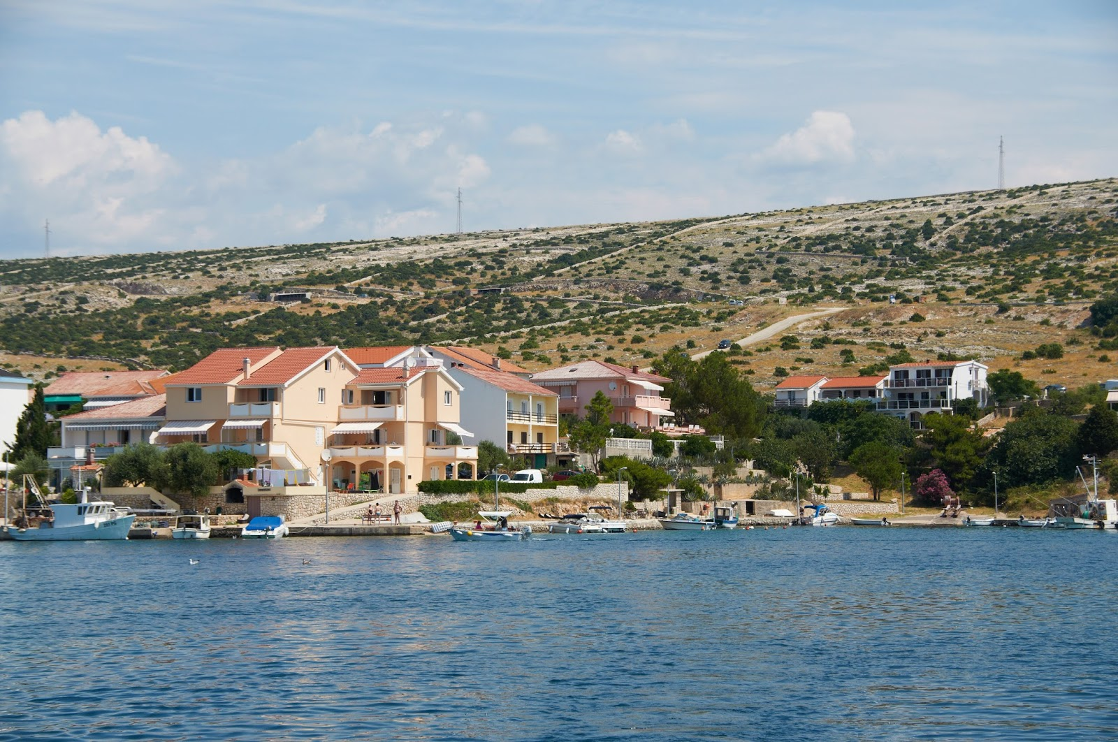 krajobraz wysypy Pag Chorwacja gdzie warto jechać na wakakcje