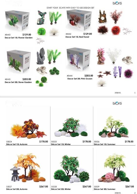 artificial aquatic plants biorb decor sets pricing