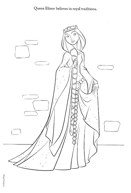 Brave Coloring Pages  Brave Photo Queen Elinor