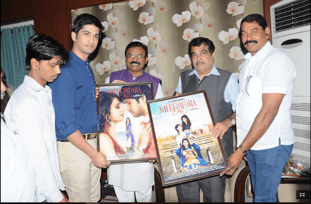 Union Minister Nitin Gadkari launches Bollywood film MEERADHA posters