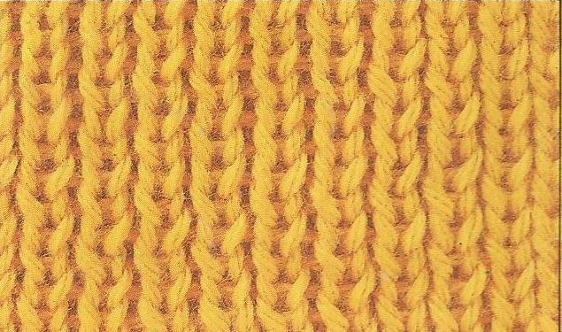 Patrón #1853: Como tejer un punto elástico a dos agujas