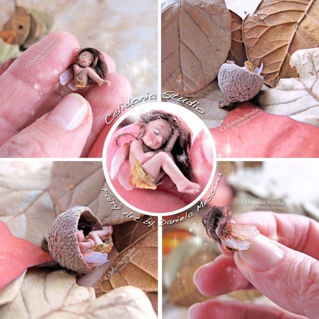 Polymer Clay Miniature Fairy