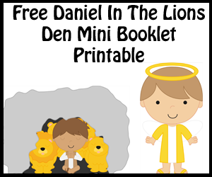 Daniel In The Lions Dens Mini Book Printable