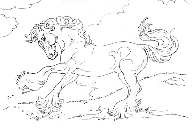 Gypsy Horse Coloring Pages Sketch Templates