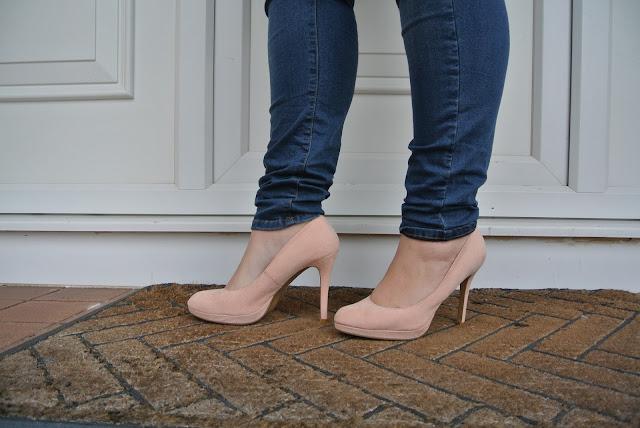 New Look Wide Fit Peach Heels