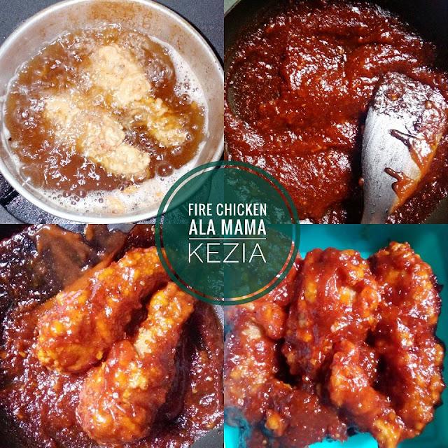 Resep Masakan Fire Chicken spicy homemade ala rest. Rechesse