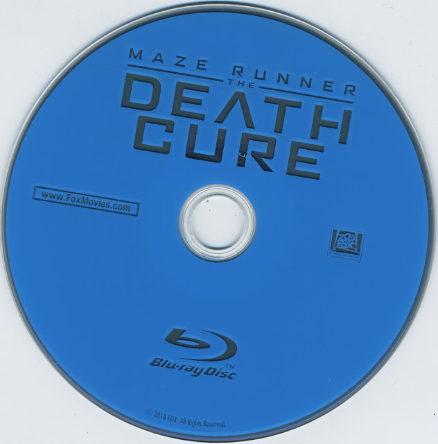 Maze Runner: Death Cure Bluray Label