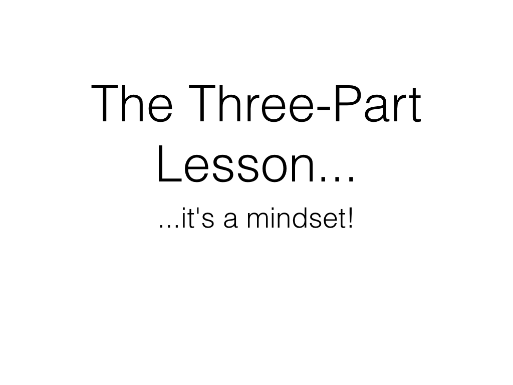 Open Spaces for Mathematical Thinking: The Three Part