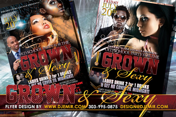 Grown and Sexy Flyer Design