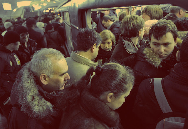 moscow metro, crowd, Russia, smile