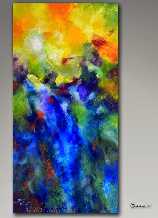 Strata 3, Original Abstract Painting by sally trace