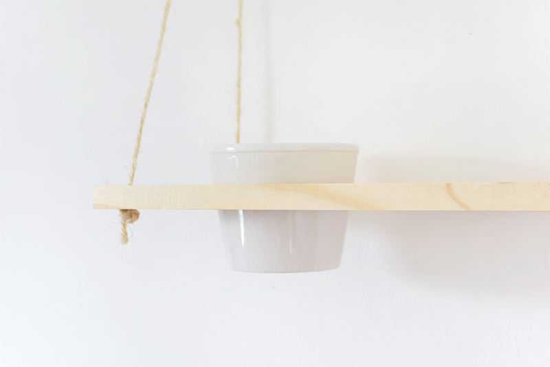 how to make a hanging shelf