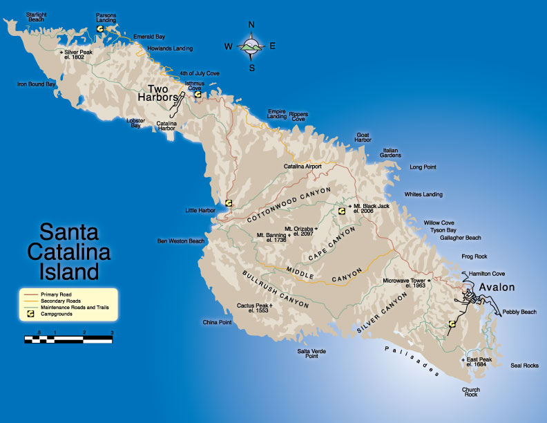 Catalina Island Map Outline