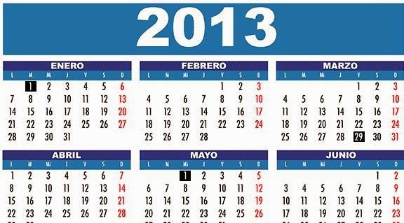 calendrios 2013
