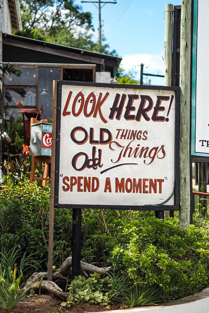Vintage store sign