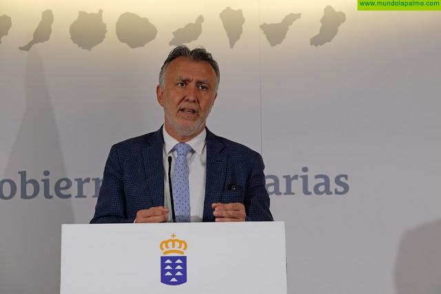 El presidente de Canarias solicita con urgencia material sanitario y que se restrinja la actividad de todos los sectores no esenciales