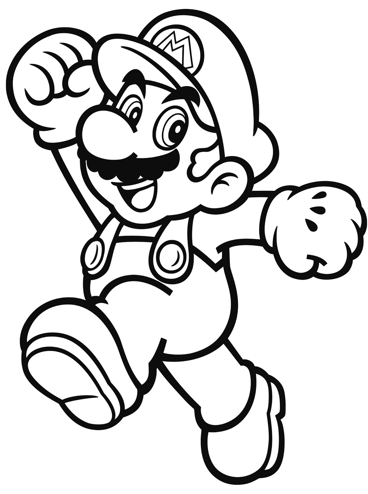 mario characters coloring pages - photo#2