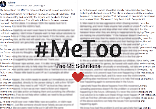 Thoughts and Solutions to the #MeToo Cause