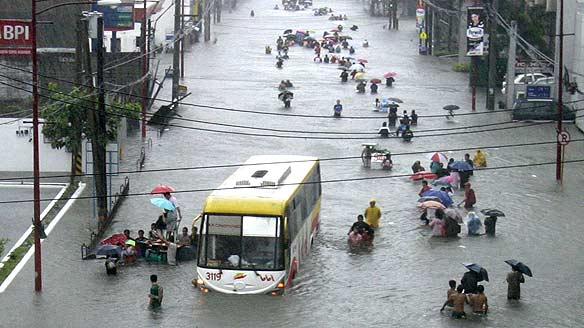 Flash flood in philippines